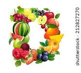 vector illustration letter d...   Shutterstock .eps vector #212827270