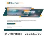 corporate website template.... | Shutterstock .eps vector #212831710