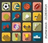 flat sport icon | Shutterstock . vector #212833414
