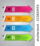 arrow colorful modern label... | Shutterstock .eps vector #212833453