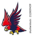 hawk mascot   Shutterstock .eps vector #212839459