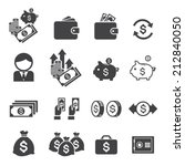 money icon | Shutterstock .eps vector #212840050