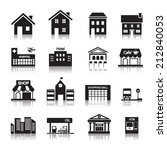building icon | Shutterstock .eps vector #212840053