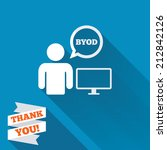 byod sign icon. bring your own... | Shutterstock . vector #212842126