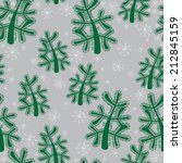 christmas tree and snow... | Shutterstock . vector #212845159