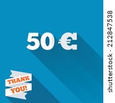 50 euro sign icon. eur currency ... | Shutterstock . vector #212847538