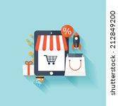 internet shopping concept. e... | Shutterstock . vector #212849200