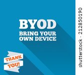 byod sign icon. bring your own... | Shutterstock . vector #212850190