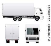 cargo truck van   Shutterstock .eps vector #212855398