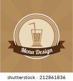 menu design | Shutterstock .eps vector #212861836