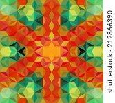 vector kaleidoscope background | Shutterstock .eps vector #212866390