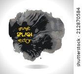 grunge vector splash. design... | Shutterstock .eps vector #212870584