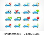 set of interface vector icons... | Shutterstock .eps vector #212873608