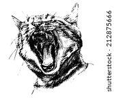 black and white illustration... | Shutterstock .eps vector #212875666