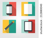 set of web flat icons
