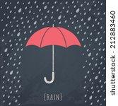 umbrella on black chalkboard.... | Shutterstock .eps vector #212883460