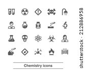 chemistry icons set.   Shutterstock .eps vector #212886958