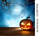 halloween pumpkin background | Shutterstock . vector #212887906