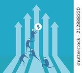 team building financial graph | Shutterstock .eps vector #212888320
