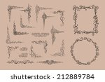 vector frame and corners.... | Shutterstock .eps vector #212889784