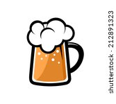 cold beer icon on white... | Shutterstock .eps vector #212891323