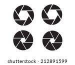 camera objective icon shutter... | Shutterstock .eps vector #212891599