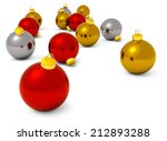 red  golden and silver... | Shutterstock . vector #212893288