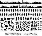 illustration of silhouettes   Shutterstock .eps vector #21289366
