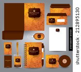 stationery set design  ... | Shutterstock .eps vector #212895130