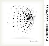 vector halftone dots abstract... | Shutterstock .eps vector #212898718