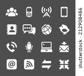 internet communication icon set ... | Shutterstock .eps vector #212908486