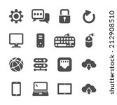 network and computer icon set ... | Shutterstock .eps vector #212908510