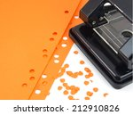 hole puncher and confetti...