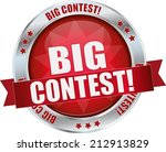 modern red big contest sign | Shutterstock .eps vector #212913829