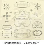 vintage frame  premium quality... | Shutterstock .eps vector #212915074