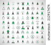 christmas tree icons and... | Shutterstock .eps vector #212917474