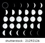 lunar phases. cmyk mode. global ... | Shutterstock .eps vector #21292126