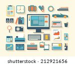business work flash design... | Shutterstock .eps vector #212921656