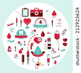 medical collection icon and... | Shutterstock .eps vector #212923624