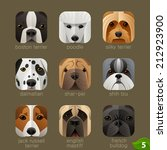 animal faces for app icons dogs ... | Shutterstock .eps vector #212923900