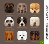 animal faces for app icons dogs ... | Shutterstock .eps vector #212924224