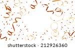 golden streamers and confetti... | Shutterstock . vector #212926360