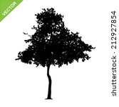 tree silhouettes vector | Shutterstock .eps vector #212927854