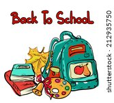 back to school cartoon art... | Shutterstock . vector #212935750