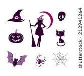 halloween icons set | Shutterstock .eps vector #212941264