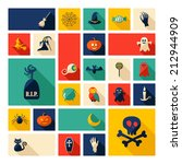 halloween symbols collection.... | Shutterstock .eps vector #212944909
