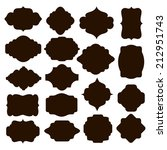 large set of vector black... | Shutterstock .eps vector #212951743