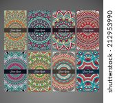 set retro business card. vector ... | Shutterstock .eps vector #212953990