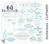 vector set  calligraphic...   Shutterstock .eps vector #212956009