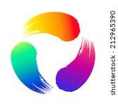 colored brushstrokes | Shutterstock .eps vector #212965390